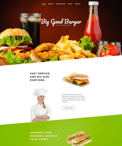 Fast Food Website Template