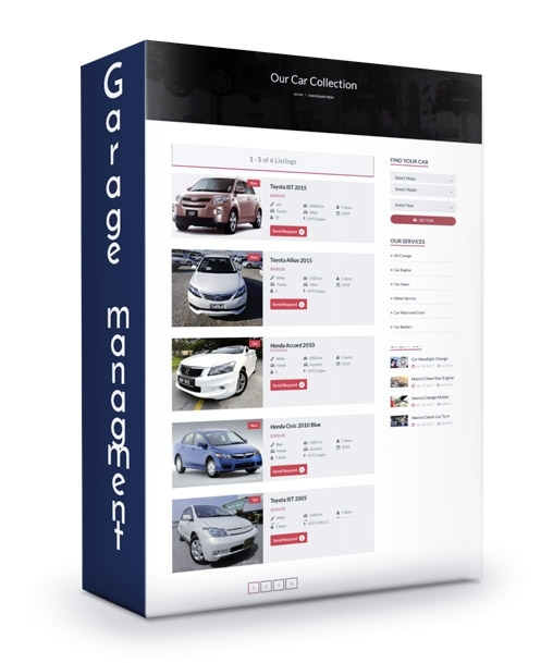 Garage Management System With CMS