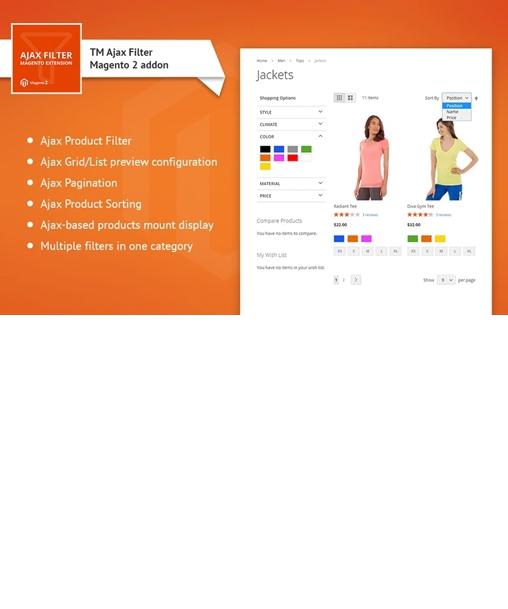 TM Ajax Catalog Filter Extension