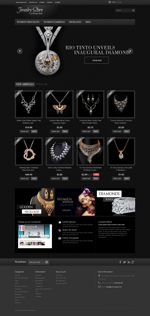 Jewelry -  Responsive Theme