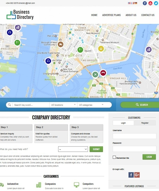 Business Directory PHP Script