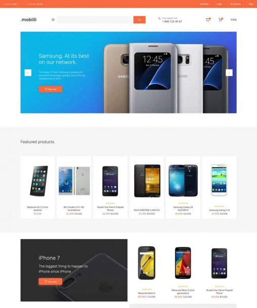 Mobile Store Responsive Template