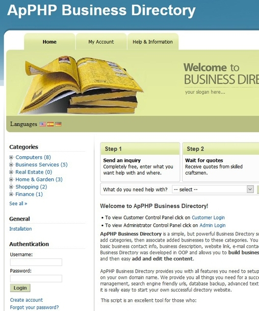 Business Listings Classified Directory Script