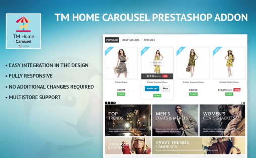 TM Home CarouselExtension