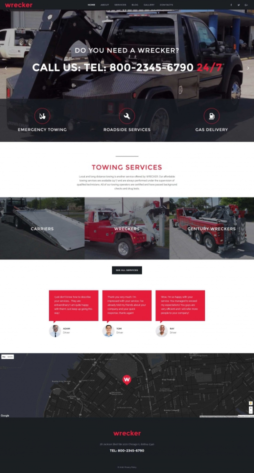 Wrecker   Website Template