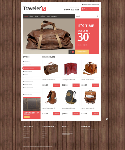 Travel Store  Theme